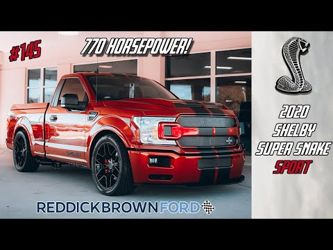 This F-150 does 0-60 in 3.4 seconds!  The 2020 Shelby Super Snake Sport with 770hp!