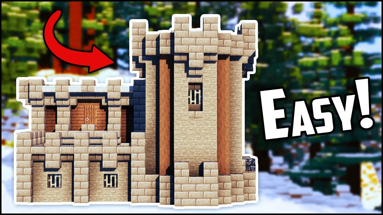 How To Build A Medieval Castle Fort In Minecraft Easy Youtube