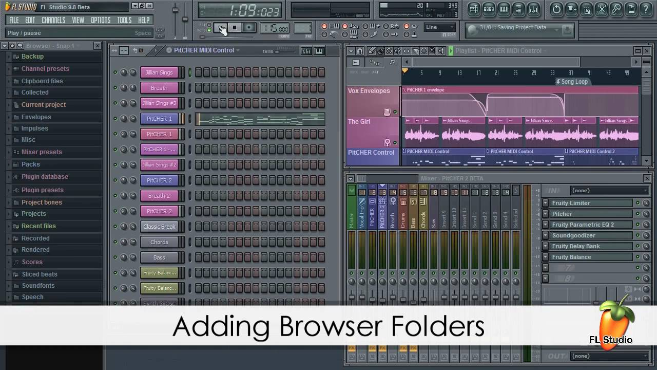 how to make folders in fl studio browser