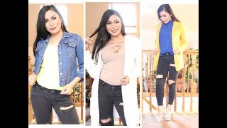 HowTo Style Distress Black Skinny Jeans Ideas || For Winter 2019