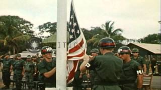 Lai Khe base transferred to the 1st Infantry division of the United States Army, ...HD Stock Footage