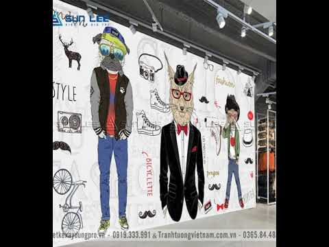Mẫu vẽ tranh tường shop quần áo ưa chuộng nhất 2020