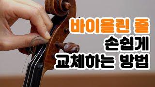 [바이올린] 바이올린 줄 교체하기