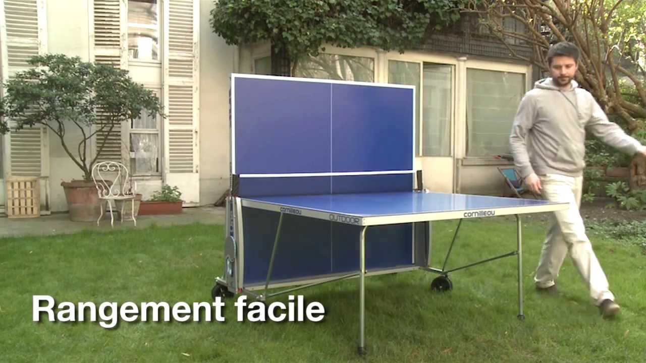 Table de ping pong sport one outdoor cornilleau chez e for Housse exterieur table ping pong
