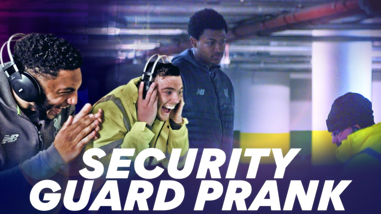 Robertson and Gomez PRANK Rhian Brewster   NordVPN's HILARIOUS security guard prank