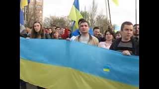Краматорск за Украину 2(Краматорск, Донецкая область. 17 апреля в городе прошел общественный сход граждан под девизом
