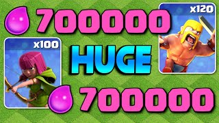 OVER 700K ELIXIR, TWICE!  TH9 Let's Play | Clash of Clans