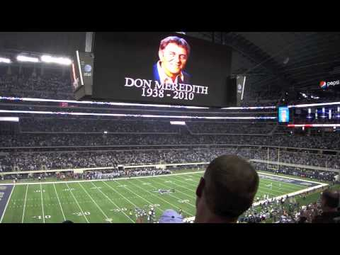 Week 14 2010 (NFL) Cowboys Stadium Moment Of Silence For Don Meredith