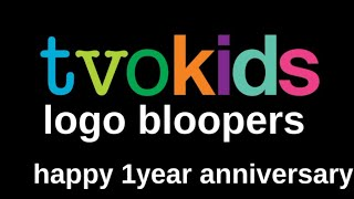 Tvokids logo bloopers Happy 1 year anniversary