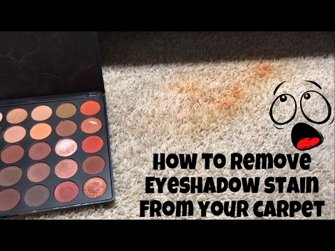 how to clean eyeshadow off carpet