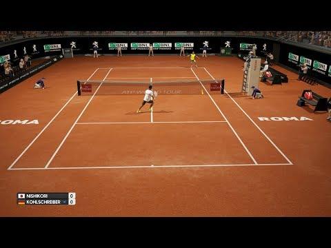 Kei Nishikori vs Philipp Kohlschreiber - AO International Tennis PS4 Gameplay