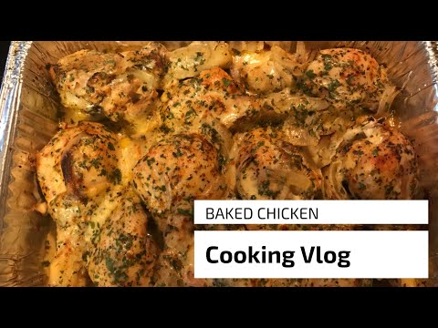 How To Make Baked Chicken | Cooking Vlog | Shanise Nicole