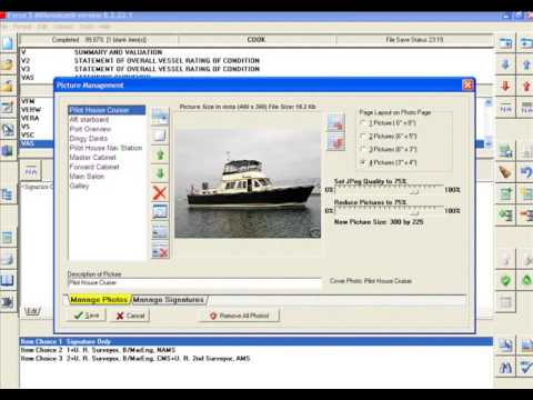 FORCE5 Marine Survey Report Software Tutorial - add scanned signature file demo