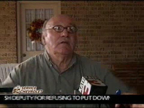Old cajun man explains the scene of a crime