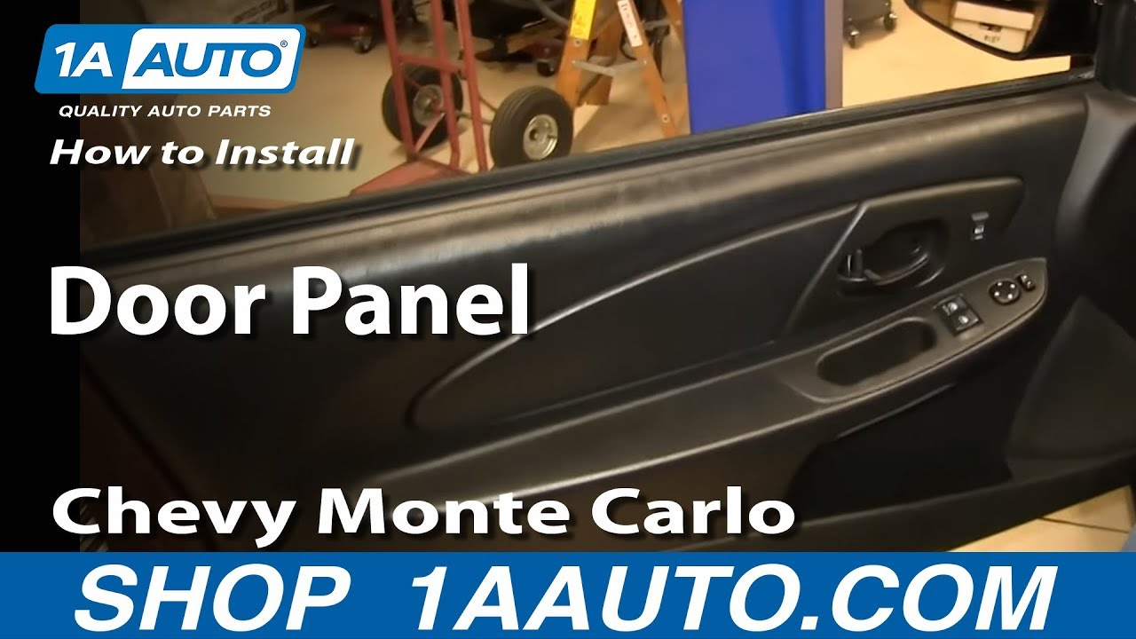How To Install Remove Door Panel 2000 07 Chevy Monte Carlo