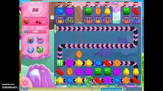 Candy Crush Level 715 Audio Talkthrough, 3 Stars 0 Boosters