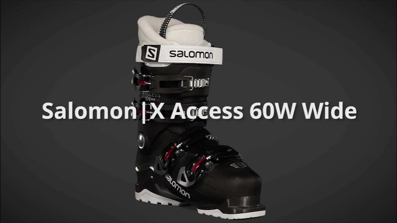 2018 Salomon X Access 60W Wide Womens Boot Overview by SkisDotCom