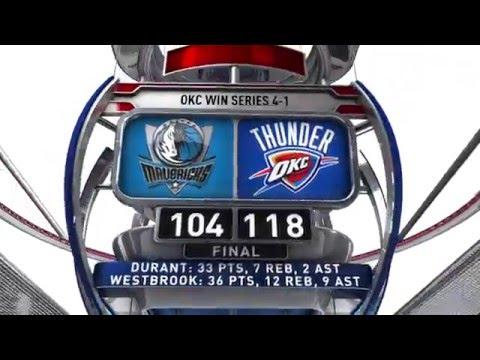 Dallas Mavericks vs Oklahoma City Thunder - April 25, 2016