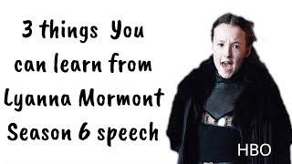 Lyanna Mormont Speech Analysis Game of Thrones 6x10  'King in the North!'   Lyanna Mormont Speech