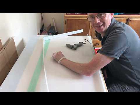 Making a polypropylene mould for resin pours