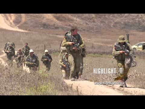 TZE 008 IDF Operation Protective Edge 2014: Footage of troops moving out of Gaza
