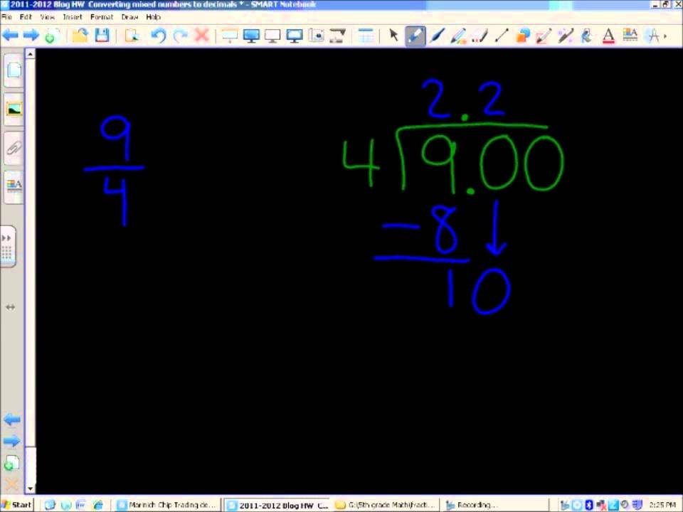 Video Walkthrough: Converting Improper Fractions into Decimal Form