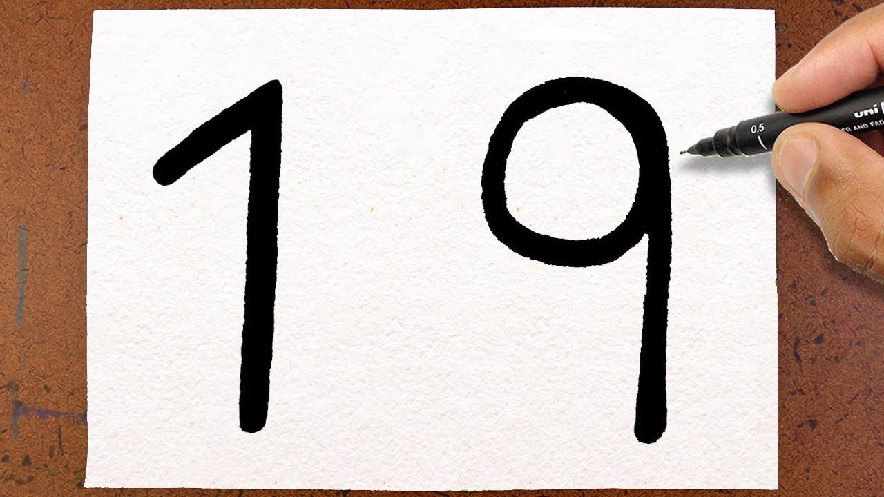 Como Transformar O Número 19 Em Um Violão Desafio Da Arte