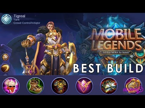 [ML] Tigreal Best Build 2018 Mobile Legends High Graphics MAX Settings  Razer Phone Gameplay