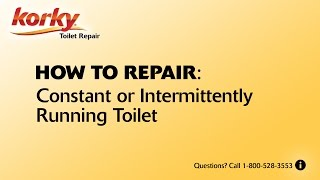 Constant or Intermittently Running Toilet