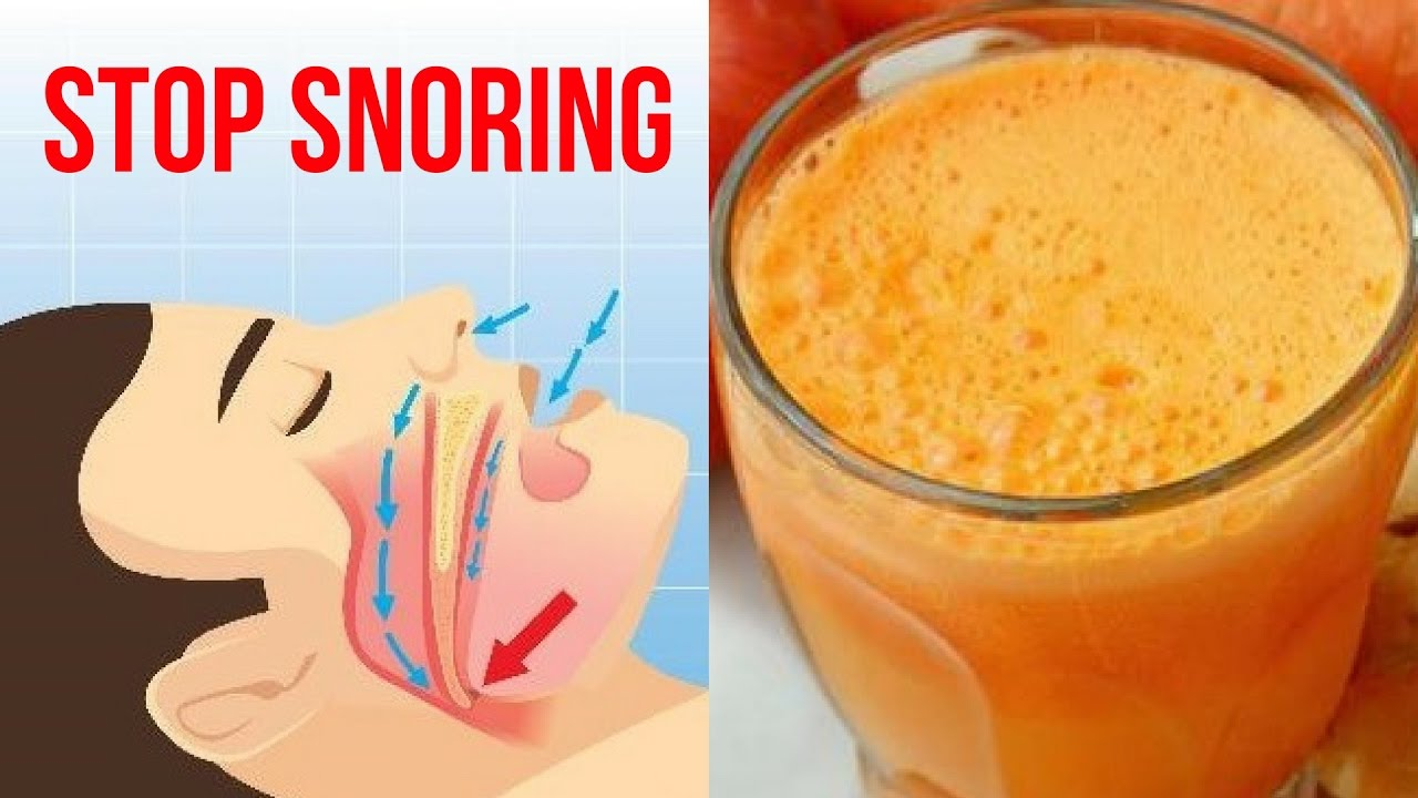 Drink This Juice Before Bedtime To Stop Snoring And Sleep Apnea