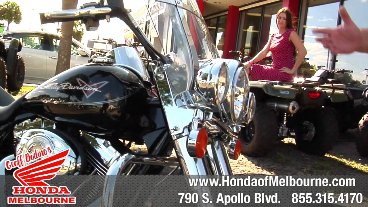 Geoff Bodine Honda >> Used Harley Davidson Road King - Low milage - Geoff Bodine's Honda of Melbourne - YouTube
