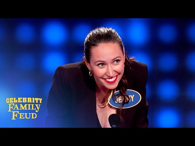 Fran Drescher and team take it to the limit on Celebrity Family Feud!