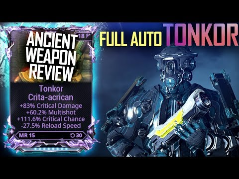 [Warframe] FULLY AUTOMATIC TONKOR RIVEN MODDED  [normal riven review] thumbnail