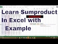 sumproduct function in hindi