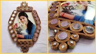 How to make Newspaper Photoframe at home I DIY I Best out of waste I Creative Diaries