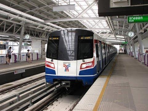 Bangkok BTS Skytrain Silom Line Thailand รถไฟฟ้าบีทีเอสรถไฟฟ้าบีทีเอส สายสีลม