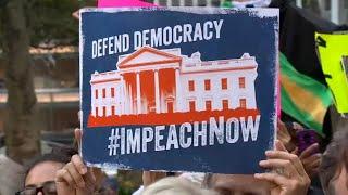 Protesters march through Manhattan demanding impeachment of President Trump