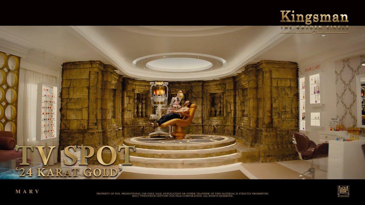 Download Kingsman: The Golden Circle ['24 Karat Gold' TV Spot in HD (1080p)]