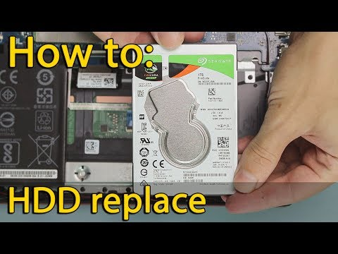 How To Install SSD In Asus FX504, FX503, FX80 | Hard Drive Replacement