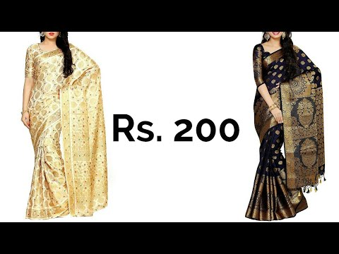 Beautiful Party Wear Silk Saree Available On Amazon | Buy Sarees Online | Amazon Online Shopping