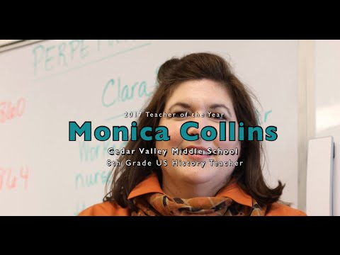 Cedar Valley Middle School 2017 Teacher of the Year: Monica Collins