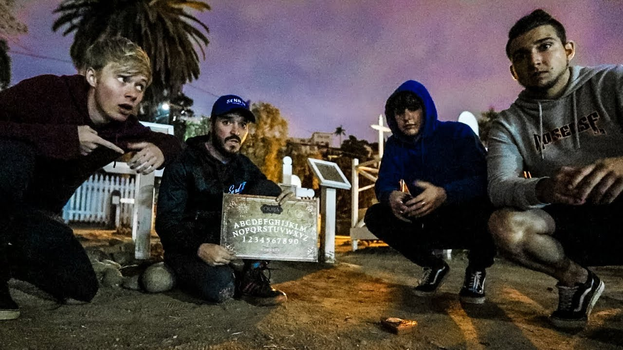 OVERNIGHT IN HAUNTED CEMETERY! (Really Creepy)