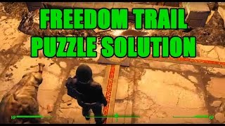 fallout 4 freedom trail puzzle solution