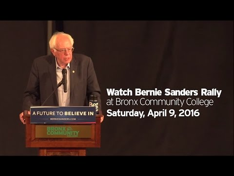 Bernie Sanders Rally at Bronx Community College - April 9, 2016 (edited)