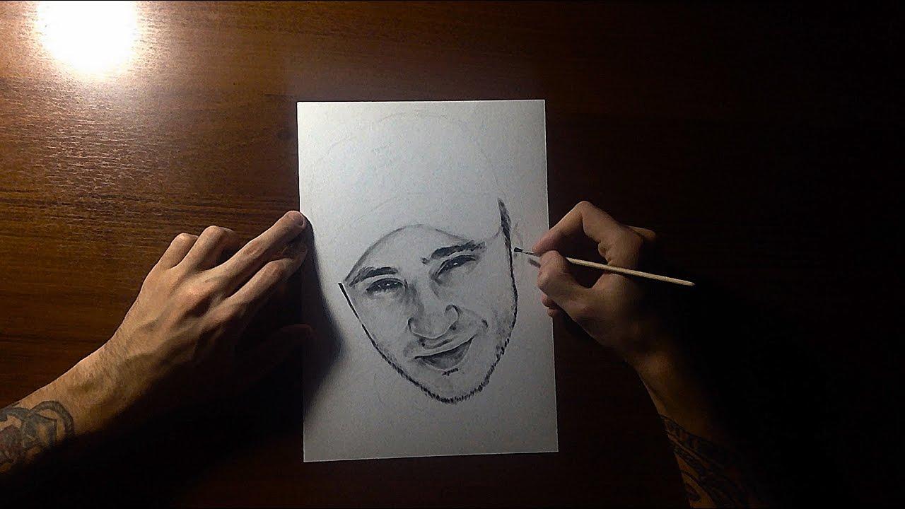 Эльдар Джарахов Speed Drawing Portrait  / Рисование портрета / Сухая кисть