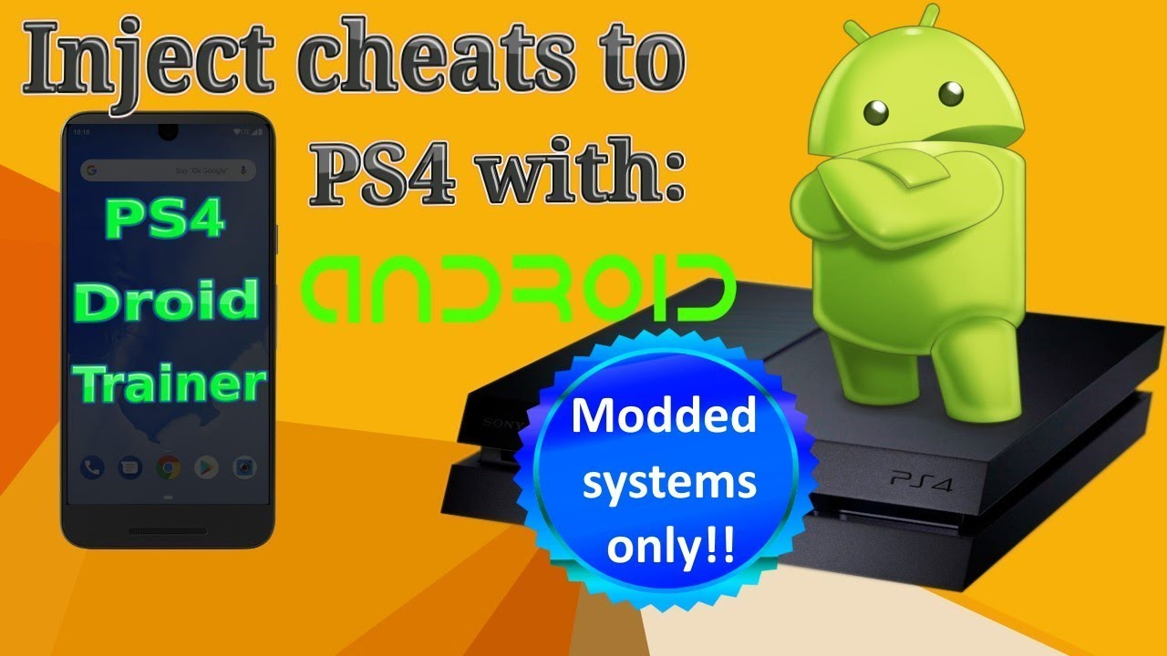 PS4 Droid Trainer: Game Cheats on Android (Online and Offline
