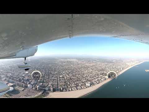 Garmin Virb 360 - Flying Over RMS Queen Mary - Long Beach CA
