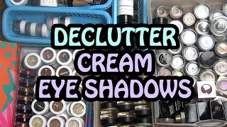 Out of Control! DECLUTTER of 150+ Cream Eye Shadows