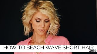 How To Beach Wave Short Hair