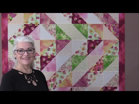 Hst Half Square Triangle Quilt Youtube